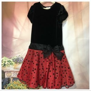 Rate Editions girls black and red dress size 14